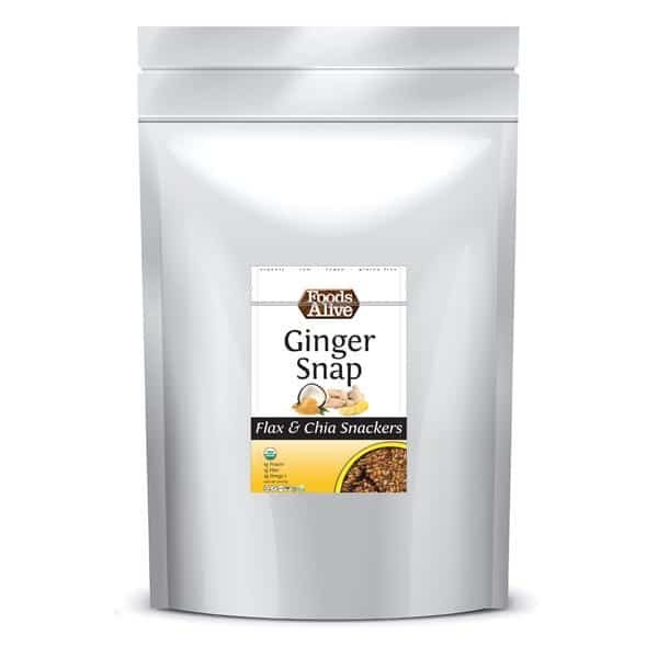 GINGER SNAP FLAX & CHIA SNACKERS – ORGANIC