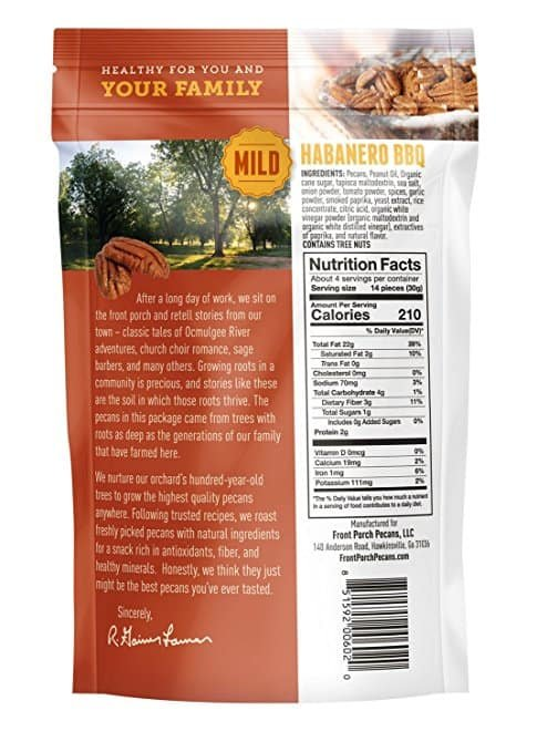 All Natural Roasted Pecans – Pack of 4 (Habanero BBQ)