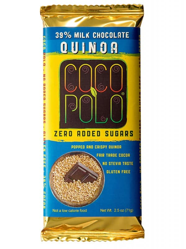 CRISPY QUINOA – 39% COCOA MILK CHOCOLATE – 8 BARS