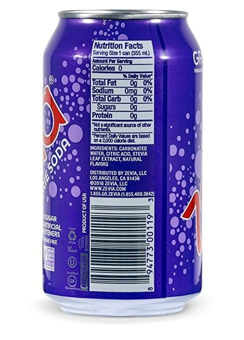 Zevia Zero Calorie Soda – Grape