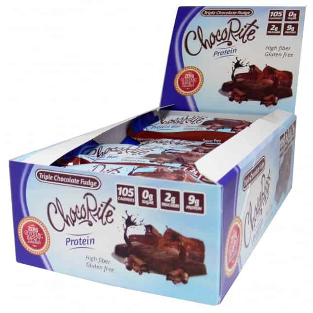 Triple Chocolate Fudge Bars 9g Protein, 100 Calories, 2g Tru Carbs
