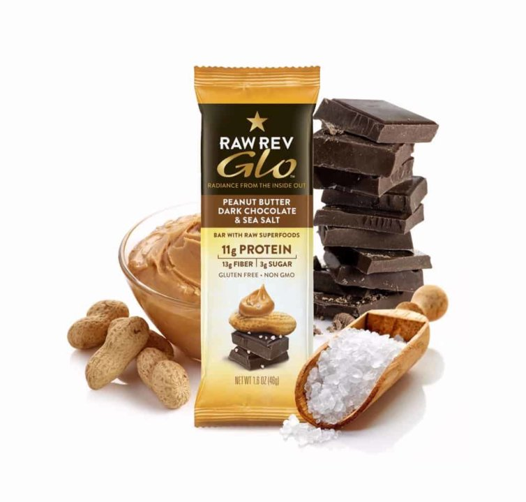 GLO PEANUT BUTTER, DARK CHOCOLATE & SEA SALT