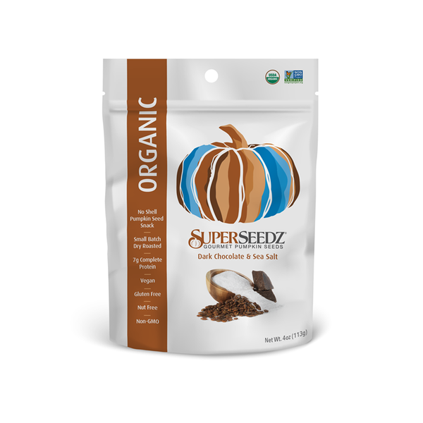 ORGANIC DARK CHOCOLATE & SEA SALT 4OZ