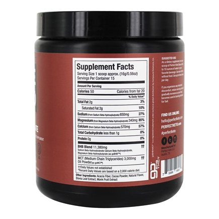 Base Exogenous Ketones Powder Chocolate 1