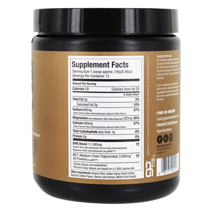 Base Exogenous Ketones Powder Coffee1