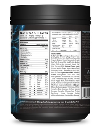 Keto Feast Ketogenic Balanced Shake & Meal Replacement Powder Vanilla - 25 oz
