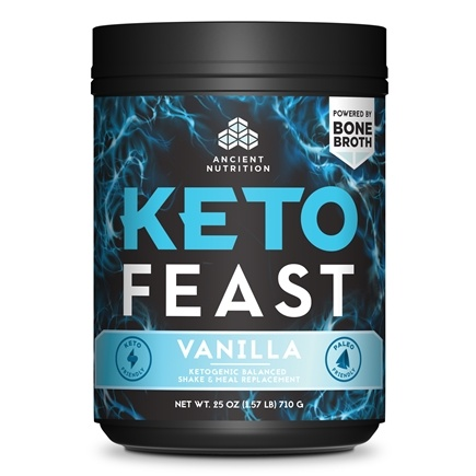 Keto Feast Ketogenic Balanced Shake & Meal Replacement Vanilla Powder