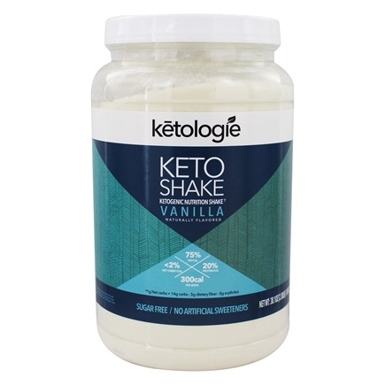 Keto Shake Ketogenic Nutrition Powder Vanilla - 38.1 oz.