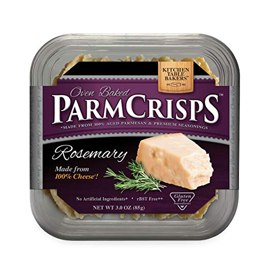 ParmCrisps Rosemary Flavor, Made From 100% Real Parmesan Cheese