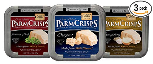 ParmCrisps Variety Pack, Original, Italian Herb, Everything Flavor