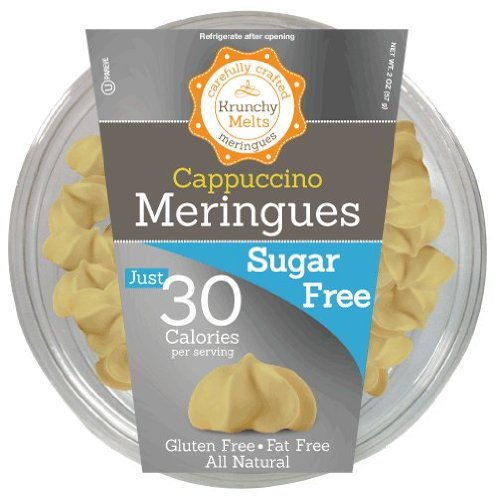 Krunchy Melts – Sugar Free Meringues – Cappuccino Flavor – 2 Oz Tub