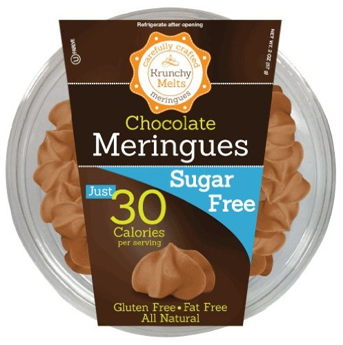 Krunchy Melts – Sugar Free Meringues – Chocolate Flavor – 2 Oz Tub
