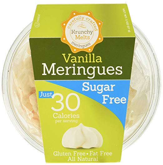Krunchy Melts – Sugar Free Meringues – Vanilla Flavor – 2 Oz Tub