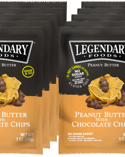 Peanut Butter Chocolate Chip Nut Butter Squeeze Packs